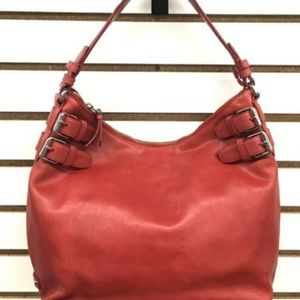 COLE HAAN LRG RED STRAP LEATHER HOBO